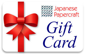 Japanese Papercraft Gift Card