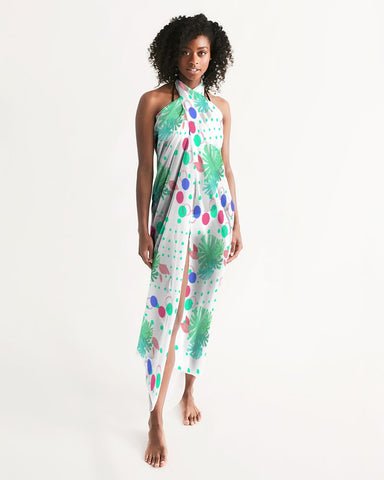 Tropical Leaves Dots Swimsuit Cover Up