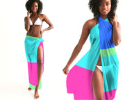 Tropical Colorblock Swimsuit Cover-up