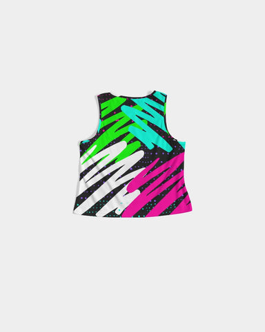 Colorsplash Black Crop Tank