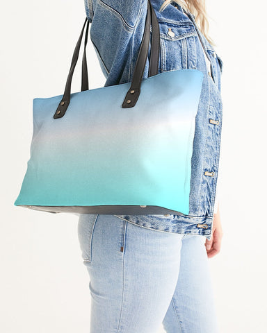 Ocean Blue Ombre Tote Bag