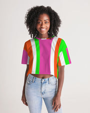 Candy Stripe Cropped Tee