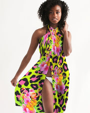 Tropical Animal Print Swimsuit Cover Up