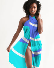 Sea Blue Waves Swimsuit Cover Up