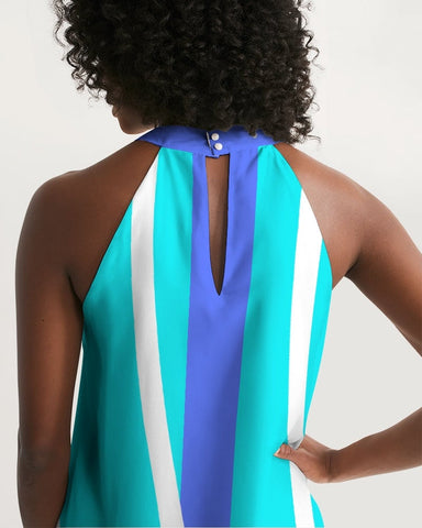 Blue Bay Halter Dress