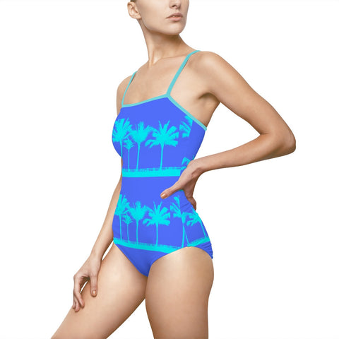 Palm Blues One-Piece Swimsuit