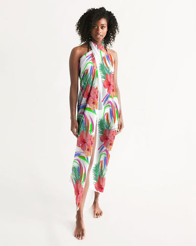 Tropical Hibiscus Swimsuit Cover Up