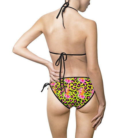 Tropical Animal Print Bikini Set