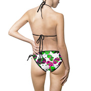Tropical Leaves Dots Bikini Set