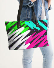 Black Colorsplash Tote Bag
