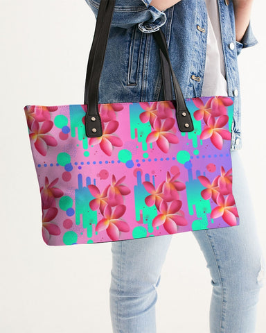 Tropical Floral Ombre Tote Bag
