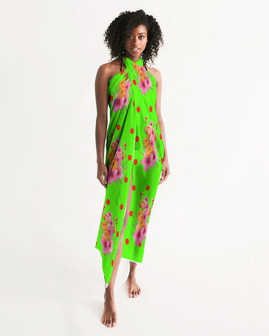 Tropical Lime Swimsuit Coverup