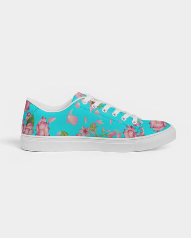 Floral Lotus Turquoise Sneakers