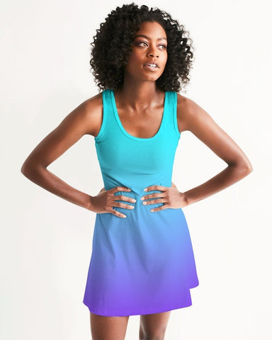 Bahama Blue Ombre Racerback Dress
