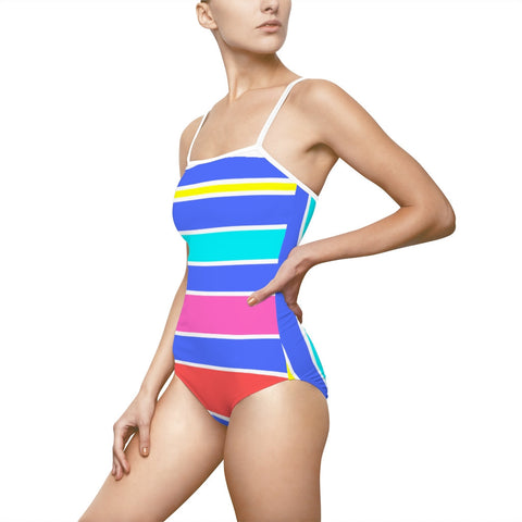 Tropical Candy Stripes Swimsuit