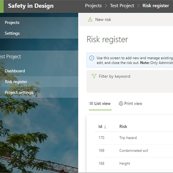 Safety in Design Software by Construct Health