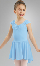 Load image into Gallery viewer, Girls Sleeve Leotard with Attached Skirt