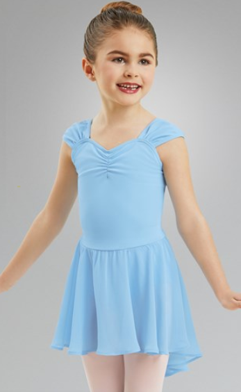 Girls Sleeve Leotard with Attached Skirt