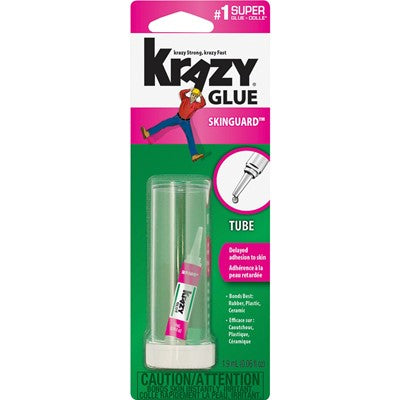 KRAZY GLUE Skin Guard All-Purpose Instant Glue 1.9 mL Tube