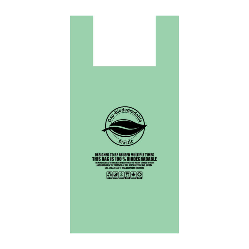 S4 PRINTED GREEN BIODEGRADABLE CARRY BAG