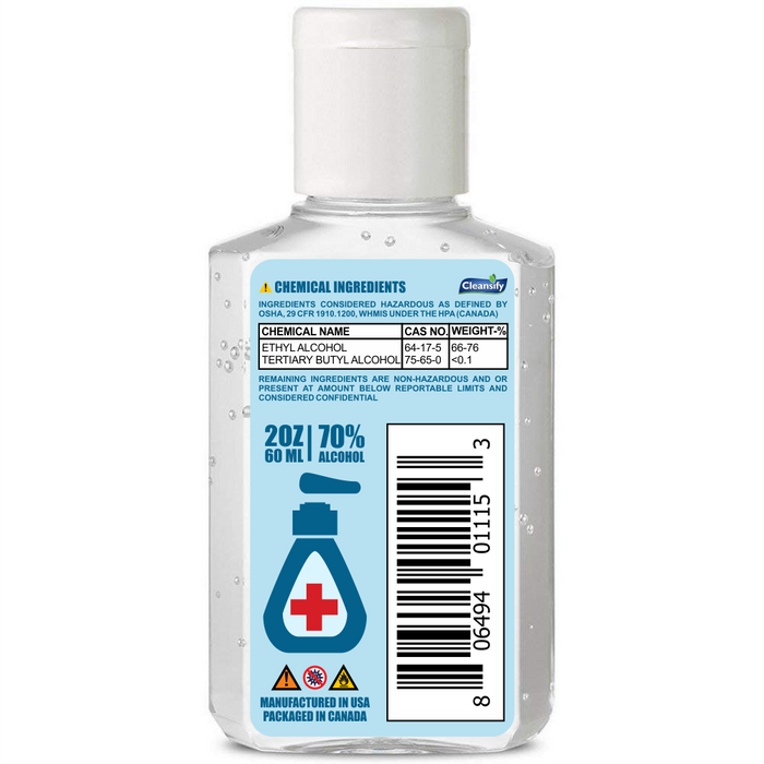 Hand Sanitizer Gel 60 ML - 70% Alcohol | Cleansify