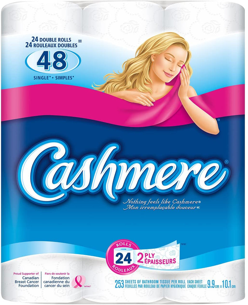 Cashmere 2 Ply Bathroom Tissue - 24Rolls
