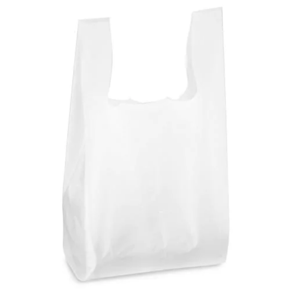 S5 WHITE 2 MIL REUSABLE CARRY BAG