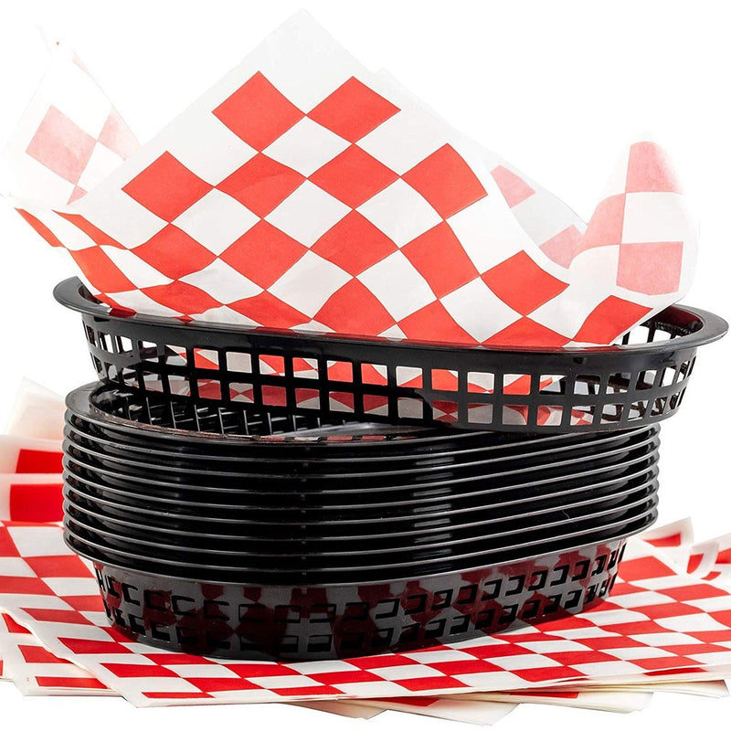 Checkered Basket Paper (1000/Case)