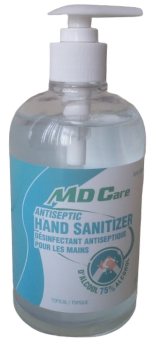 MD Care Antiseptic 500mL Hand Sanitizer 75% Alcohol