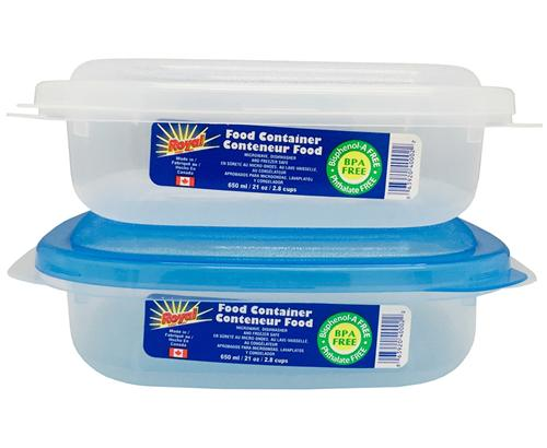 Royal Plastic Food Container Square 650mL