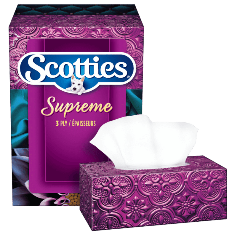 Scotties Supreme 3-ply Hypoallergenic Facial Tissues 88 Count