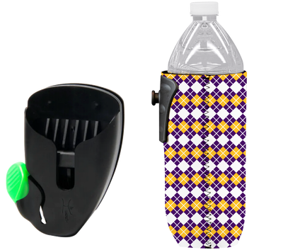 Waterbottle Purple Gold Fleur De Lis