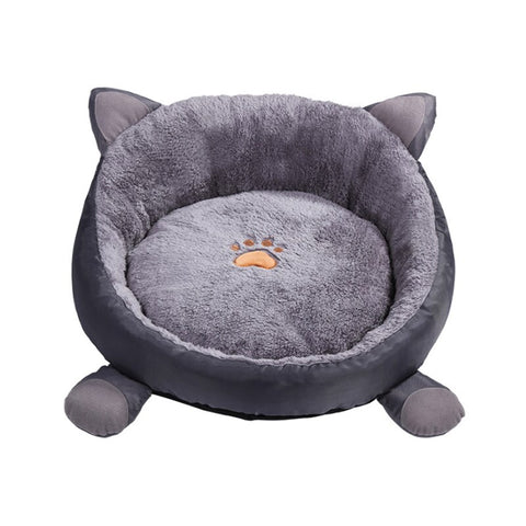Image of Orthopedic Round Cuddle Nest Snugger Burrow Blanket Pet Bed w/ Removable Cover for Dogs & Cats