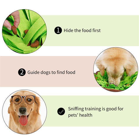Image of Pet Smelling Mat Pet Educational Toys Dog Snuffle Mat Smell Training Mat Dog Release Stress Feeding Mat