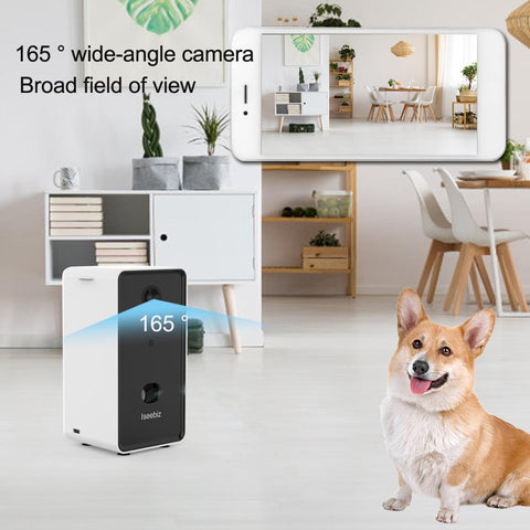 Image of Premium 2-Way Pet Treat Camera, HD 1080p Video, Motion/Sound Detection Smart Video Recording, Aromatherapy, Streams