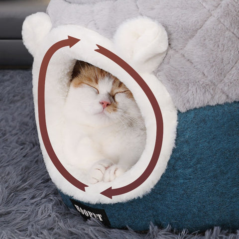 Image of Pet Tent Soft Bed for Dog and Cat