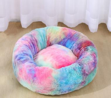 Image of Donut Cuddler Ultra Soft Calming Bed for Dogs and Cats, Self Warming Indoor Snooze Sleeping Cushion Bed