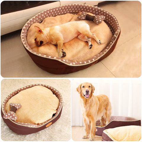 Image of Long Rich Reversible Rectangle Pet Bed Dog Bed