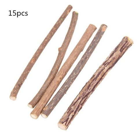 Image of Cat Catnip Chew Sticks, 10/20/50 Pcs Natural Matatabi Silvervine Sticks Chew Toys Cat Treats Sticks Natural Cat Dental Chews for Teeth Cleaning