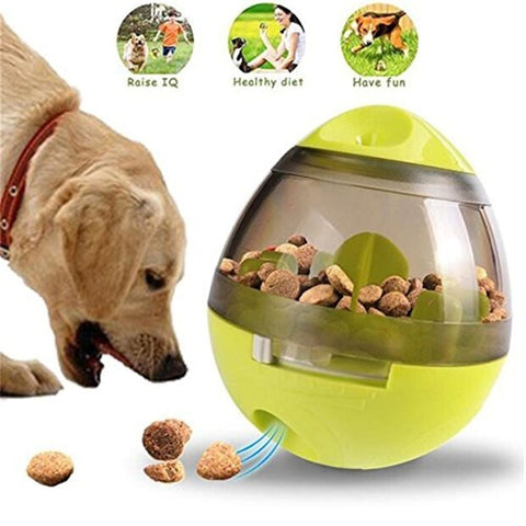 Image of Treat Ball Dog Toy for Pet Increases IQ Interactive Food Dispensing Ball