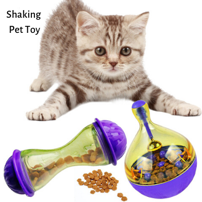 Image of Interactive Tumbler Pet Automatic Food Ball Dispenser Feeders for Medium Small Dog Cat Puppy Kitten
