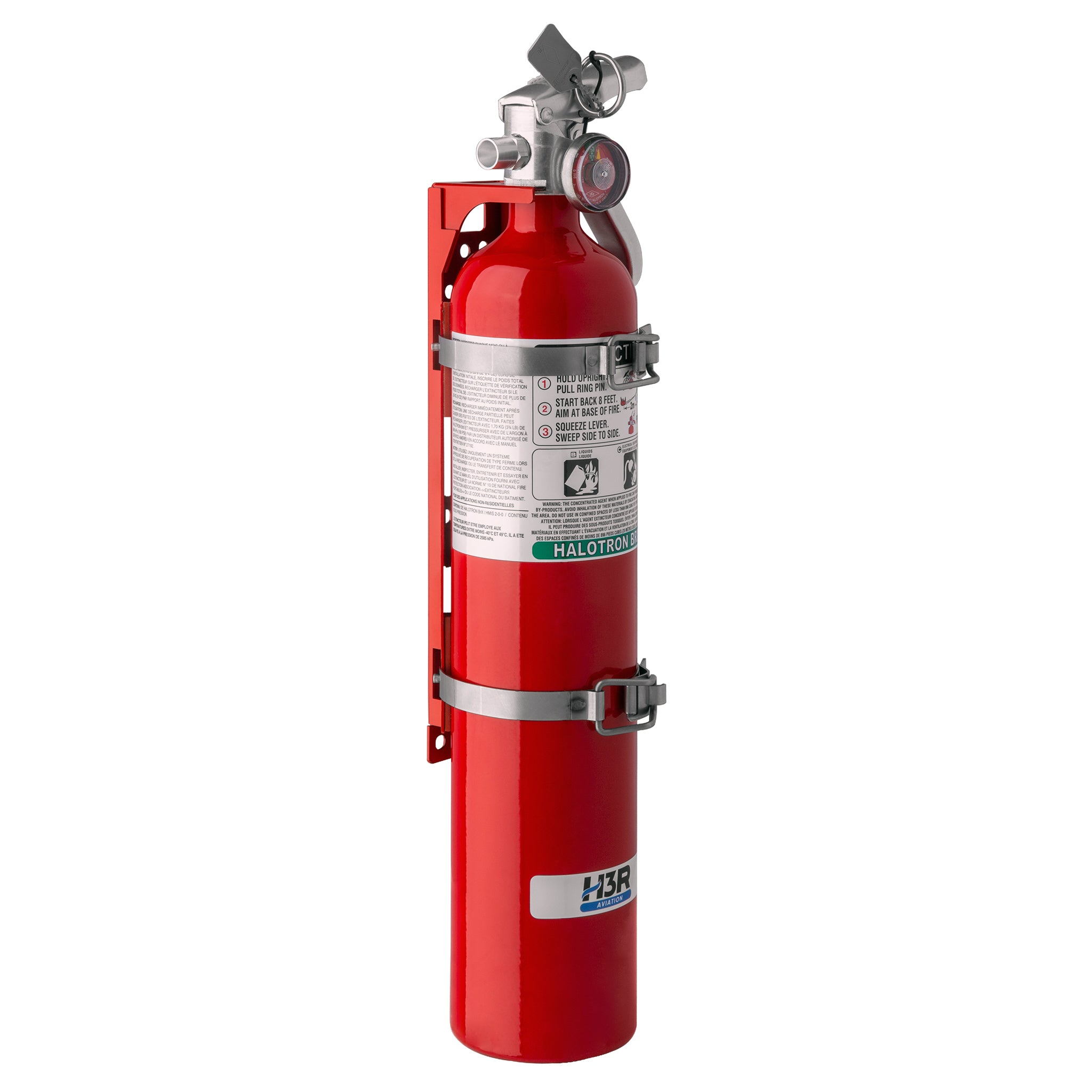 MODEL 347 – 3.75 lb. Halotron BrX Fire Extinguisher