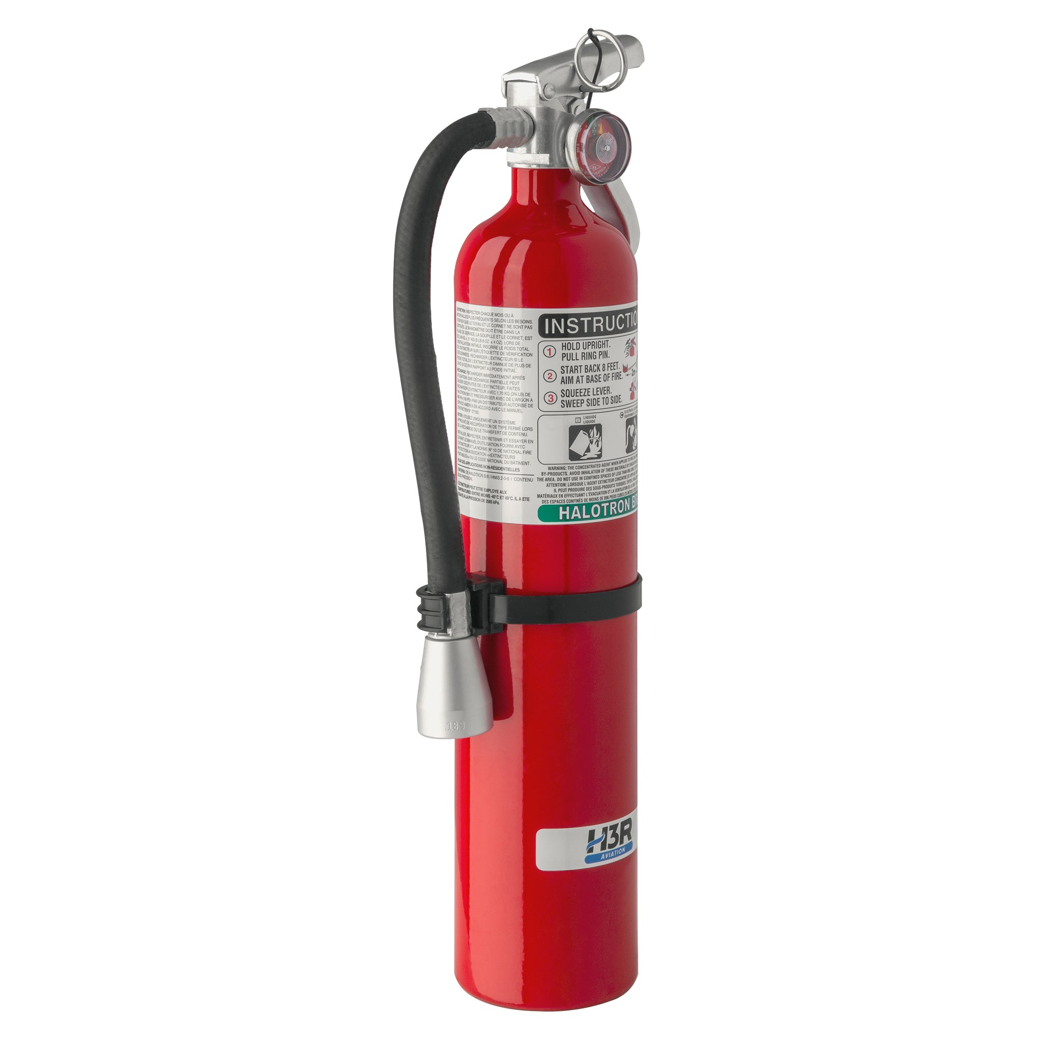 MODEL 349 – 3.75 lb. Halotron BrX Fire Extinguisher