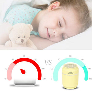 Portable Mist Humidifier with USB Fan and LED Light - Needrd