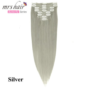 New 8pc Clip In Human Brazilian Hair Extensions - Needrd
