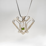 Butterfly Pendant with Peridot Necklace