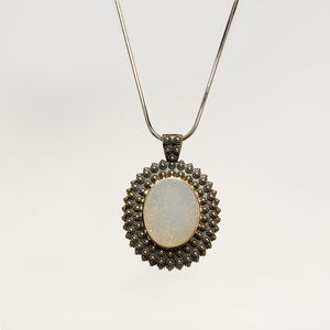 Necklace with Large Druzy Pendant