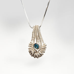 Pear Shaped Pendant with London Blue Topaz