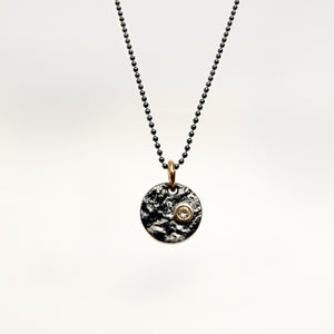 Small Disc Necklace with Diamond