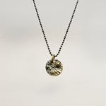 Small Disc Necklace with Gold Accent